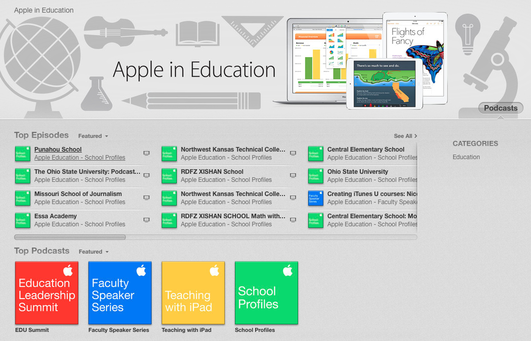 itunes education podcasts