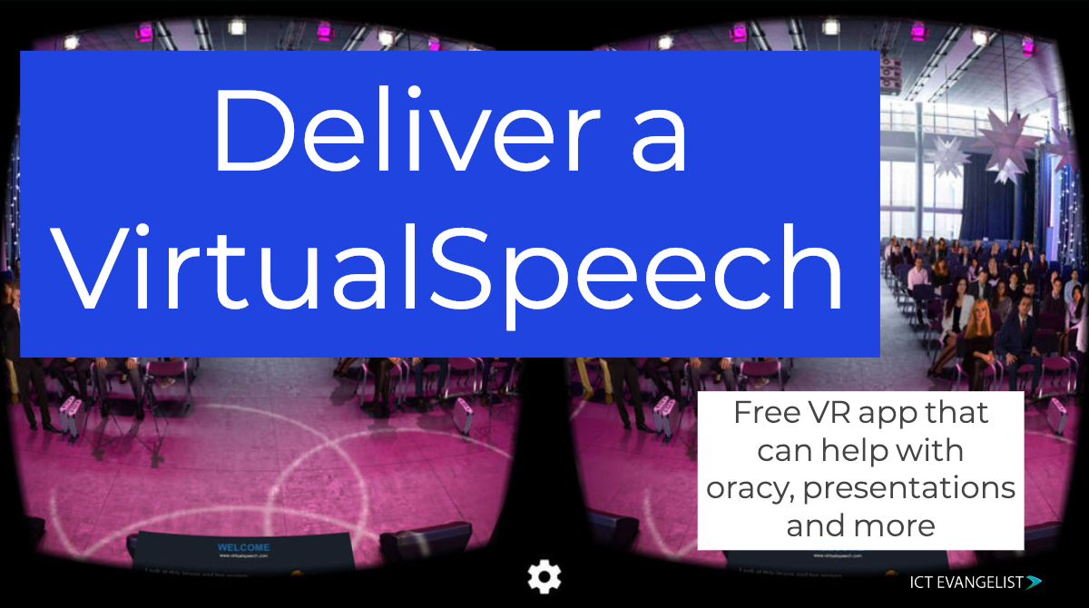 A great free VR app for iOS that can help with oracy, presentations