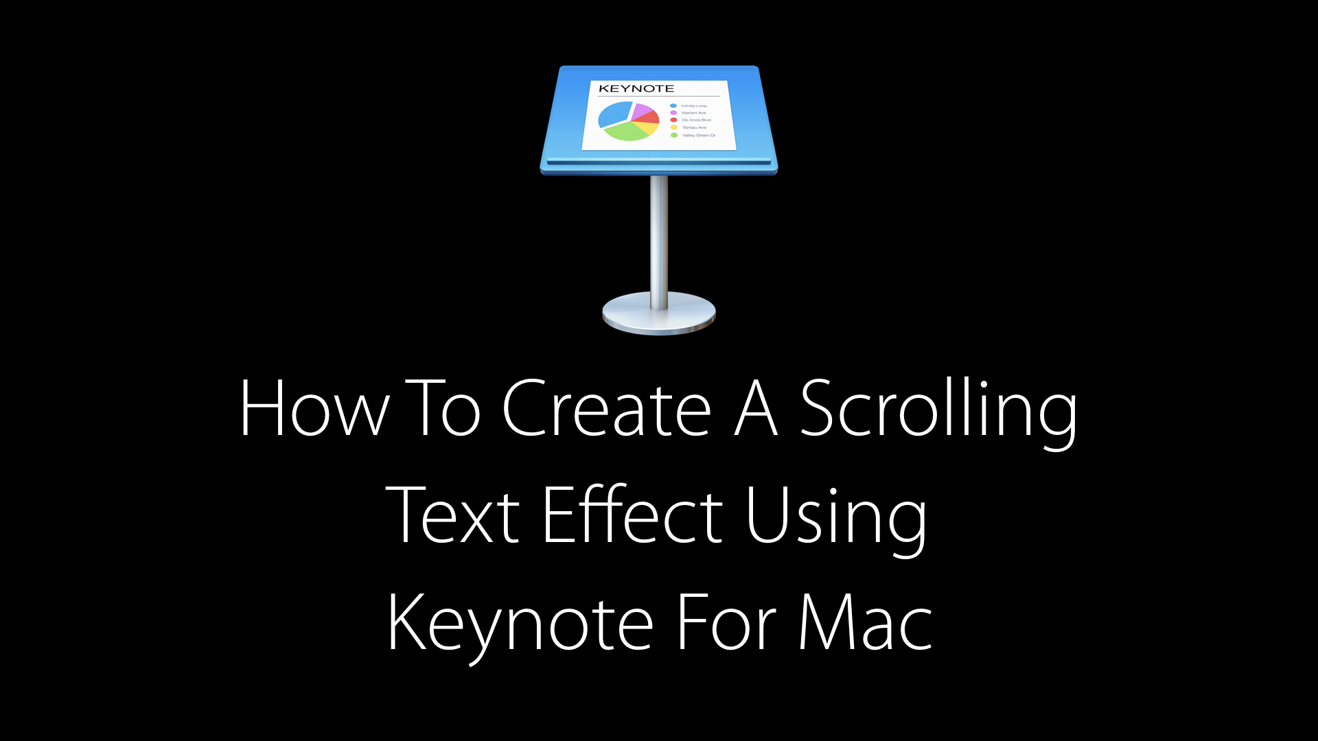 How to create a scrolling text animation in Keynote for Mac
