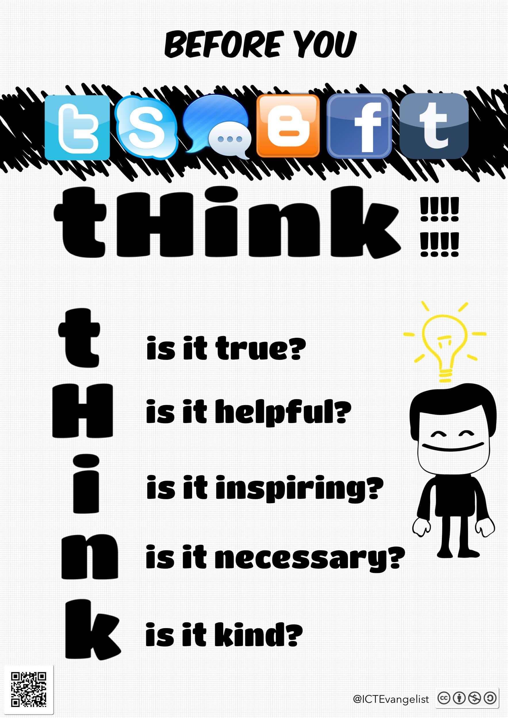 Digital Citizenship poster for social media posting