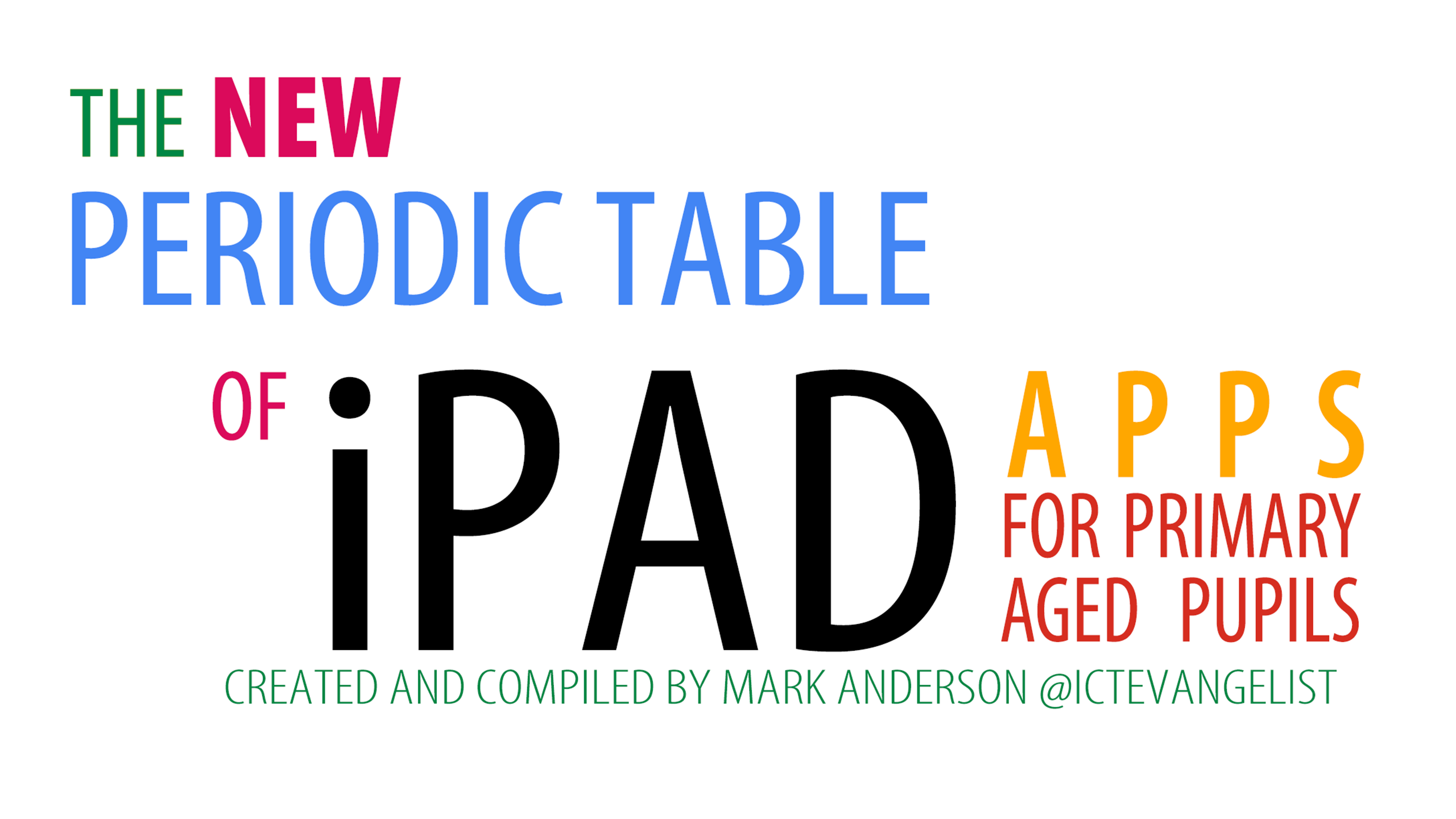 The new Periodic Table of iPad Apps for Primary aged pupils – ICTEvangelist