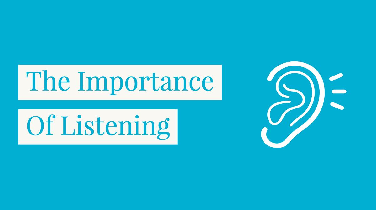 the importance of listening ictevangelist