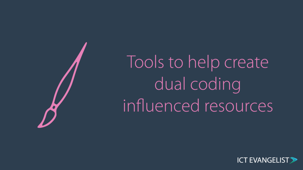 Post title - Tools to help create dual coding influenced resources